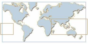 Distribution des populations sauvages de  Platax dans le monde
